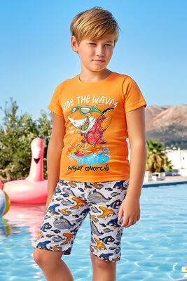 Berrak - Berrak 5378 Erkek Çocuk Şort Takım