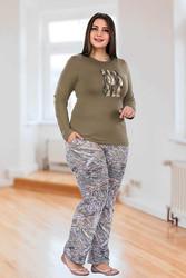 Berland - Berland 3024 Büyük Beden Bayan Pijama Takımı