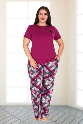Berrak - Berland 3150 Büyük Beden Kadın Pijama Takımı