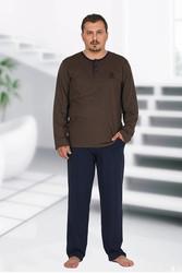 Berland 3759 Büyük Beden Erkek Pijama Takımı - Thumbnail