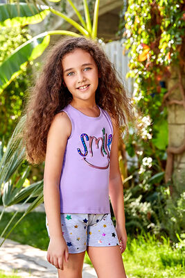 Berrak - Berrak 5520 Kız Çocuk Şort Takım