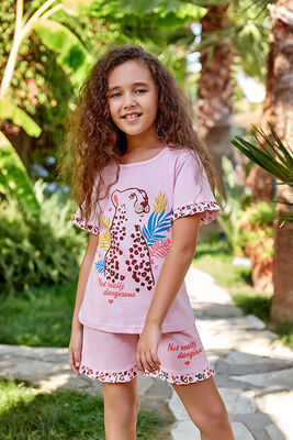 Berrak - Berrak 5524 Kız Çocuk Şort Takım