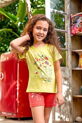 Berrak - Berrak 5525 Kız Çocuk Şort Takım
