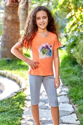 Berrak - Berrak 5526 Kız Çocuk Kapri Takım
