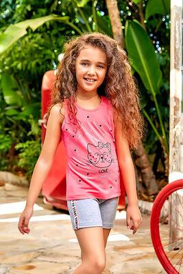 Berrak - Berrak 5532 Kız Çocuk Şort Takım