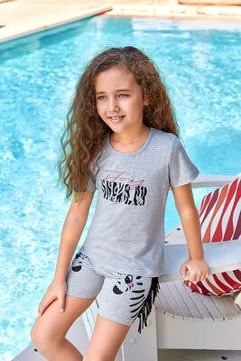 Berrak - Berrak 5533 Kız Çocuk Şort Takım