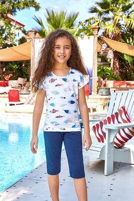 Berrak - Berrak 5539 Kız Çocuk Kapri Takım
