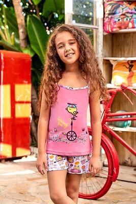 Berrak - Berrak 5556 Kız Çocuk Şort Takım