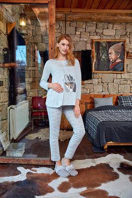 Berrak - Berrak 657 Bayan 3'lü Hamile Pijama Takımı