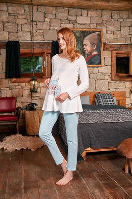 Berrak - Berrak 659 Bayan 3'lü Hamile Pijama Takımı