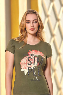 Berrak - Berrak 8073 Kadın T-Shirt