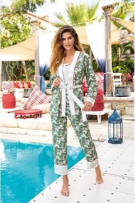 Berrak - Berrak 874 Kadın Üçlü Pijama Takımı